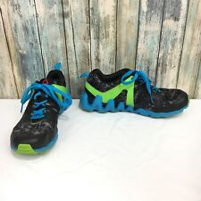 be4f232d451952 Reebok Zigtech Men s 6.5 Blue Green Gray Camouflage Lace Up Running Shoes