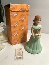 Age 11 Brunette Growing Up Birthday Girls Enesco Vintage - Cake Topper? Mint Ob