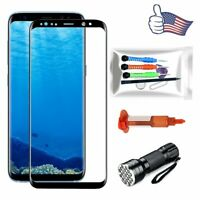 For Samsung Galaxy S8 Plus/ S8 OEM Replacement Front Screen Glass Lens Tools Kit