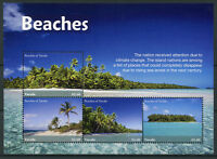 Tuvalu 2018 MNH Beaches 4v M/S II Tourism Landscapes Trees Nature Marine Stamps