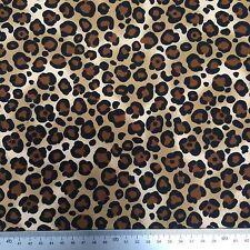 100% Superior Cotton Poplin Fabric * Animal Wild Cat Cheetah Print *