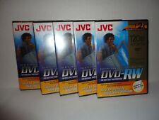 New Sealed Lot Of 5  JVC DVD-RW 2x  4.7 GB Data Discs Blank Rewrite VD-W47DUV
