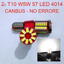 2 LAMPADINE AUTO T10 - W5W 57 LED 4014 CANBUS NO ERRORE LUCE POSIZIONE BIANCA