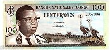 CONGO Billet 100 FRANCS 15/11/ 1961  P6  XF  // BON ETAT