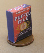 1:12 Scale Empty Quaker Puffed Rice Cereal Packet Dolls House Food Accessory Ad