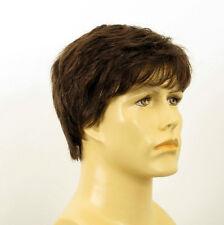 Perruque homme 100% cheveux naturel châtain ref JAMES 6spw