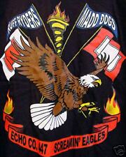 ARMY T-SHIRT 447 ECHO CO SIGNAL CORP (FT GORDON) LARGE SCREAMIN EAGLES MADD DOGS