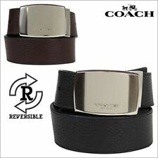 New Authentic Coach F64842 Men Wide Harness Cut-To-Size Reversible Leather Belt
