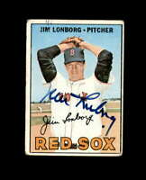 Jim Lonborg Hand Signed 1967 Topps Boston Red Sox Autograph