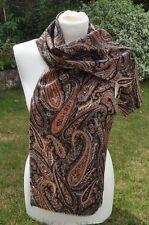 Scarf in Liberty Varuna Wool 'Descant' Paisley black brown cream grey multi