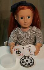 """Mini Round Playing Card Deck with Movie Reel Theme fits American Girl 18"""" Dolls"""