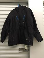 Prospecs Brand Gore-tex snowboarding mens's black hooded jacket large size