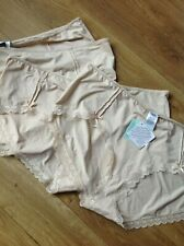 LOW RISE SHORTS SIZE 20 DEBENHAMS 4 PAIR NATURAL COLOUR WITH SOME LACE NEW