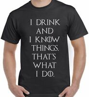 Thats what I do I drink Game of Thrones inspired Tyrion t shirt