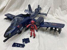 G.I. Joe Arah Cobra Rattler Ground Attack Jet With Wild Weasel 1984 Complete!