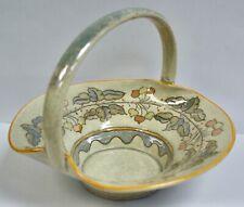 More details for charlotte rhead bursley ware tube lined lustre pottery basket dish