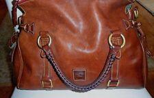 Dooney & Bourke Large Florentine Satchel Handbag Purse Chestnut Brown