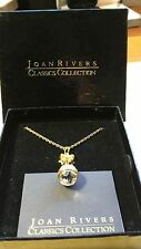 "Joan Rivers Crystal Egg Pendant Necklace w/ 24"" Chain"
