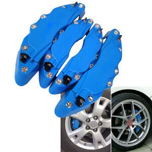 Brake Caliper Covers Front & Rear Universal Blue Guard Protector Kits 4Pcs Car
