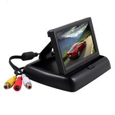 """Foldable 4.3"""" Color LCD TFT Reverse Rear view Monitor for Car Back Up Camera"""