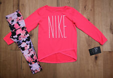 489f85de7cd14a Nike TD Girl Dri-fit 2 Piece Set Shirt Long Sleeve leggings Pink
