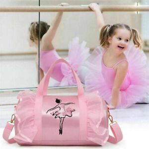 Girls Kids Pink Shoulder bag Gymnastic Ballet Handbag Tutu Dress Dance Bag