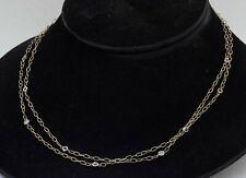 Italian designer 14K 2-tone gold 2.0CTW VS diamond by the yard chain necklace