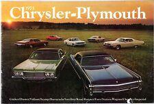 CHRYSLER PLYMOUTH 1973 Stati Uniti Mercato Opuscolo IMPERIAL Road Runner BARRACUDA Fury
