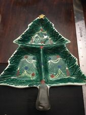 Hand Painted In Italy For F.B. Pat 178433 Number 22 / 316 Christmas Tree Dish