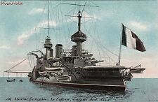 Postcard Ship AQ Marien Francaise Le Suffren Cuirasse de 1 Classe