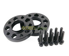 25mm Black Hubcentric 5x120 Wheel Spacers 72.6mm + 12x1.5 Cone Seat Black Bolts