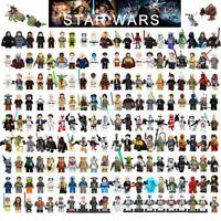 Star Wars Minifigures Jedi Darth Vader Yoda Kylo Ren Clone Jaja Ewok Blocks