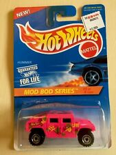 1995 Hot Wheels Pink Hummer Collector #396 Mod Bod Series 15238  1 of 4 CT wheel