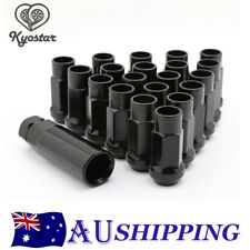 20PC M12x1.25mm Thread Black Extended Open Ended Steel Wheel Tuner Lug Nuts 48mm