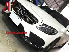 CS Type Carbon Fiber Front Lip For 2015+ W205 C250 C43 Coupe AMG Sports Only
