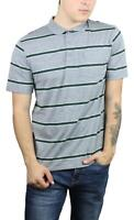 Brixton Mens Hilt Washed S/S Polo Heather Grey Pine M New