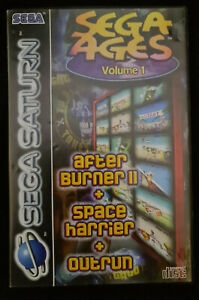 Sega Ages Volume 1 (After Burner II, Space Harrier, Outrun) - PAL Sega Saturn