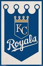 KANSAS CITY ROYALS - LOGO POSTER - 22x34 MLB BASEBALL 13957