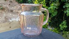 "Pink Mayfair Open Rose 6"" Tall 37 oz. Pitcher"