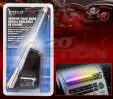 LED GLOWING COLOR WAND ROD FROSTED BUBBLE LIGHT TUBE FOR BMW JAGUAR SAAB