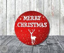 24 runde Aufkleber 40 mm / Weihnachten / Merry Christmas / Geschenkaufkleber DIY