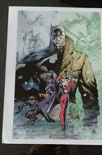 Jim Lee Print Batman Hush Huntress Catwoman Harley Quinn 12X16 inches