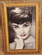 "Audrey Hepburn Picture Frame 13"" x 18"" Canvas on Wooden Stretcher Frame"