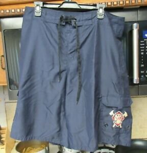 Maui Hawaii Fire Department official issue surf board shorts Men's 36 w RaRe