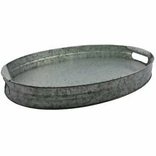 Better Homes and Gardens Galvanized Oval Tray W