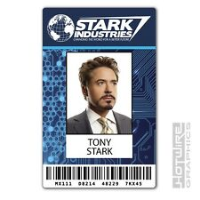Plastic ID Card (TV & FILM Prop) - Tony Stark IRON MAN Stark Industries MARVEL