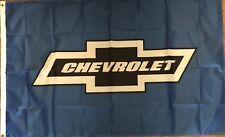 Chevrolet Flag 3x5 Blue Banner Logo Chevy Car Truck Racing Man Cave Garage