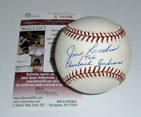 INDIANS Jim Landis signed baseball w/ '65 1966 Indians JSA COA AUTO Autographed