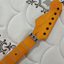 Reverse headstock Full scalloped  guitar neck 24 fret maple Floyd Rose nut