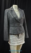 WHITE HOUSE BLACK MARKET WHBM suit JACKET BLAZER tweedy all season peplum 4 NEW